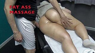 Big Booty Sensual Massage in Hidden Cam Spanking Fingering & Cumming
