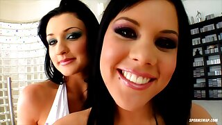 Aletta Ocean and Madison crazy group sex