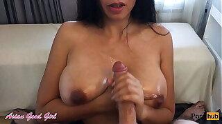 Huge cumshot handjob compilation - big creamy loads and hot tits