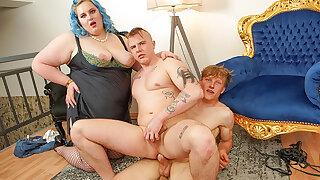 Kinky BBW Makes her Toy Boys Fuck