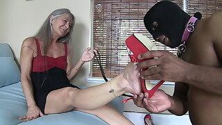 Masked Foot Slave