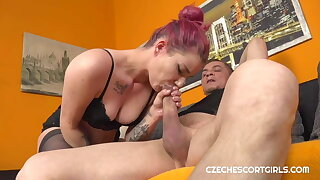 Sexy escort girl shows her wild side