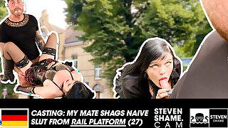 EMO girl gets fucked in PUBLIC! StevenShame.dating