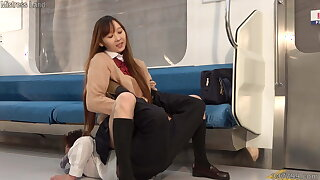 Japanese Schoolgirl Risa Punishes Masochistic Man with Mart