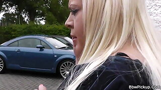 Stranger fucks chubby blonde bbw